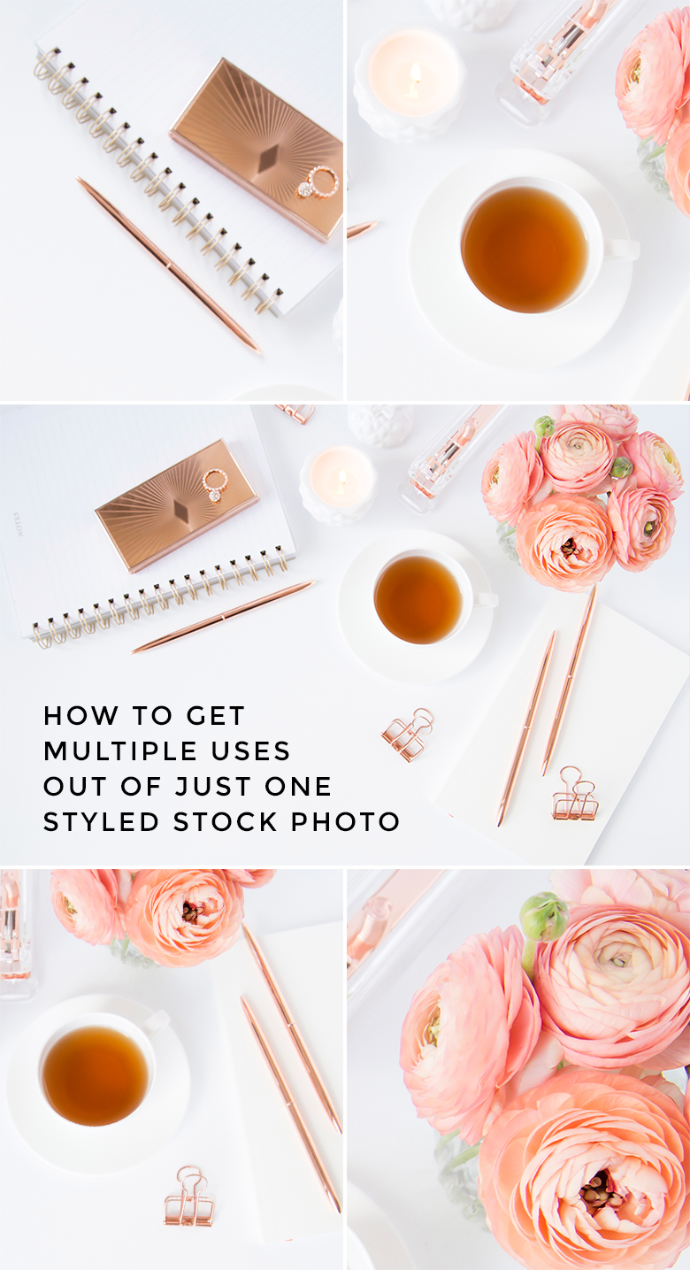 How to crop styled stock photos to maximize versatility - get more use out of styled stock photos by cropping them into multiple images!