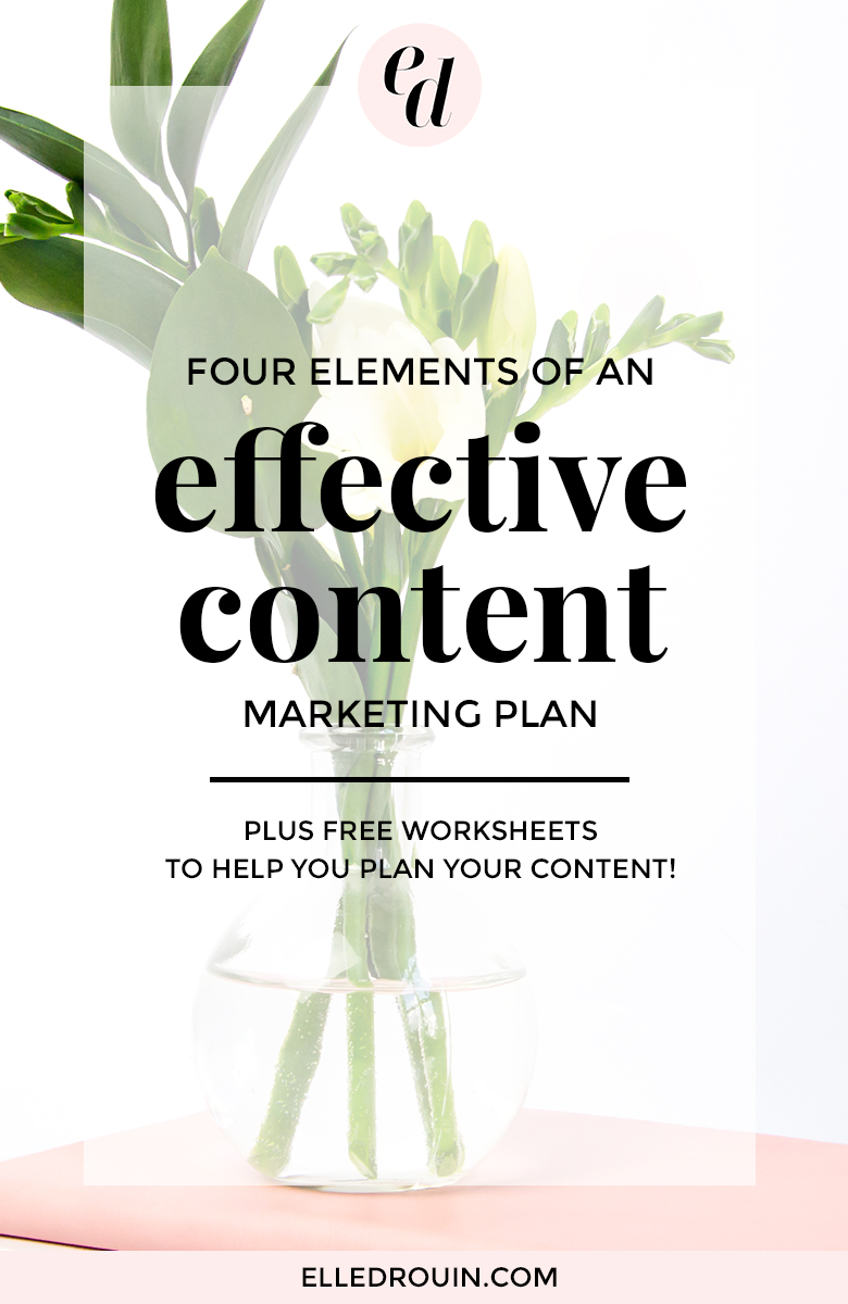Four elements of an effective content marketing plan - because you shouldn't be winging your marketing if you want to get results. Tips for female entrepreneurs and online business owners who are creating content on a regular basis to grow their brand.