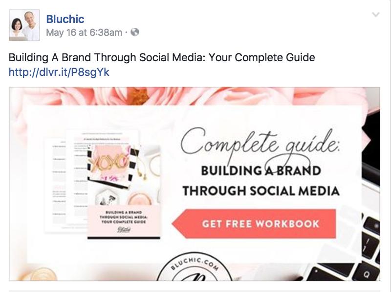 Branding social media graphics