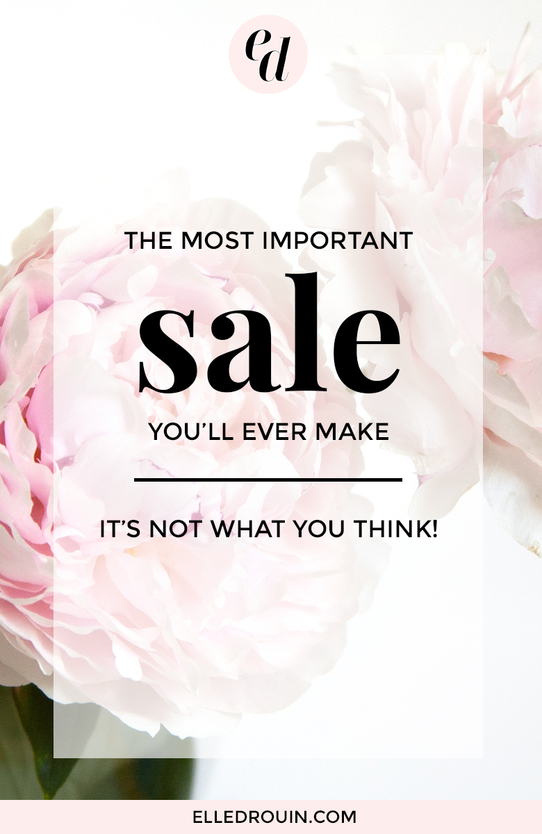 The most important sale you'll ever make - it's not your products or services. For small business owners who are selling online, this is the key element to consider when it comes to your sales strategy.