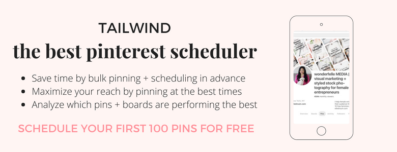 Tailwind - best Pinterest scheduler for bloggers