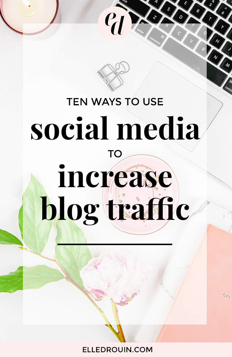 How to use social media to increase your blog traffic - 10 free actionable strategies you can use to drive more traffic to your blog. If you're a blogger who wants to use social media strategically to get more blog readers, click through to read this post!