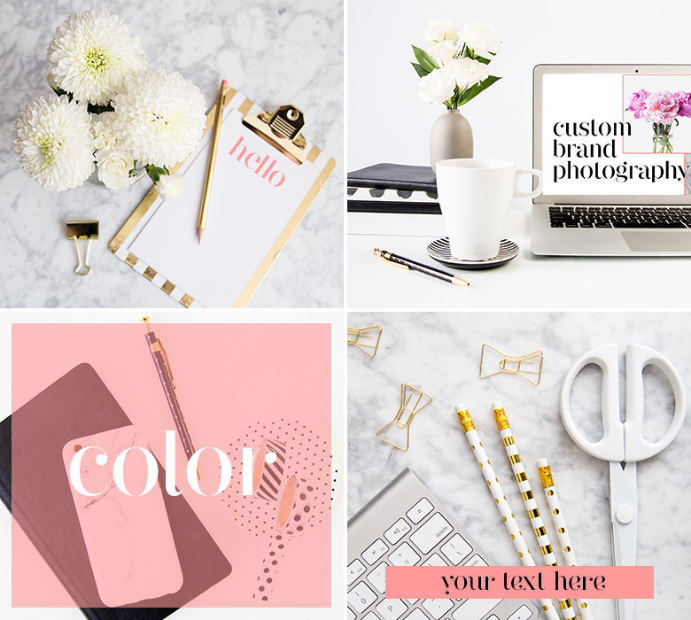 How to customize styled stock photos for your brand - easy tips for making the most out of your styled stock photos if you are a blogger or small business owner using stock photos for your website, blog or social media graphics!