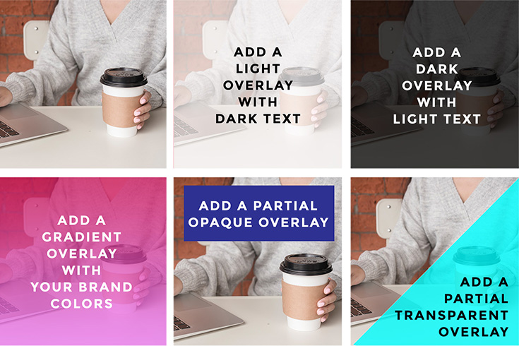 Customize stock photos using color overlays