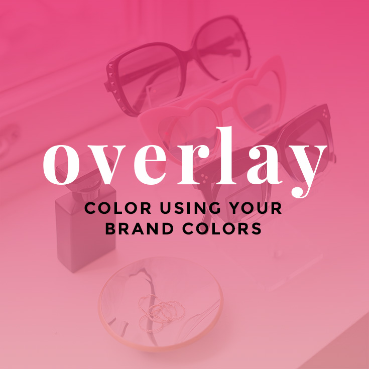 Customize Stock Photos with Color Overlay