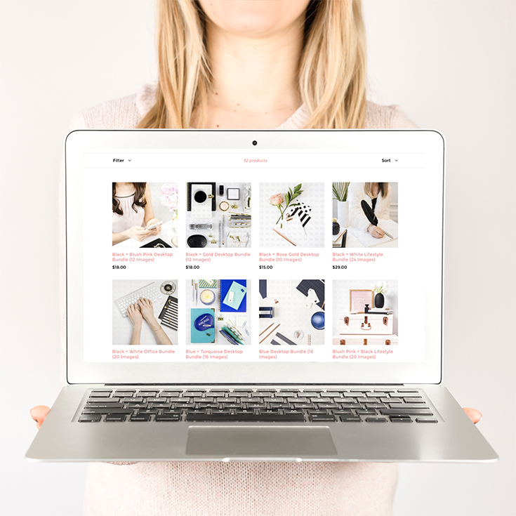 Customize Stock Photos with Product Overlay