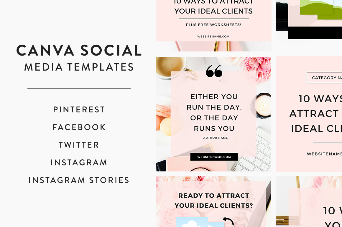 Canva social media templates from Bluchic