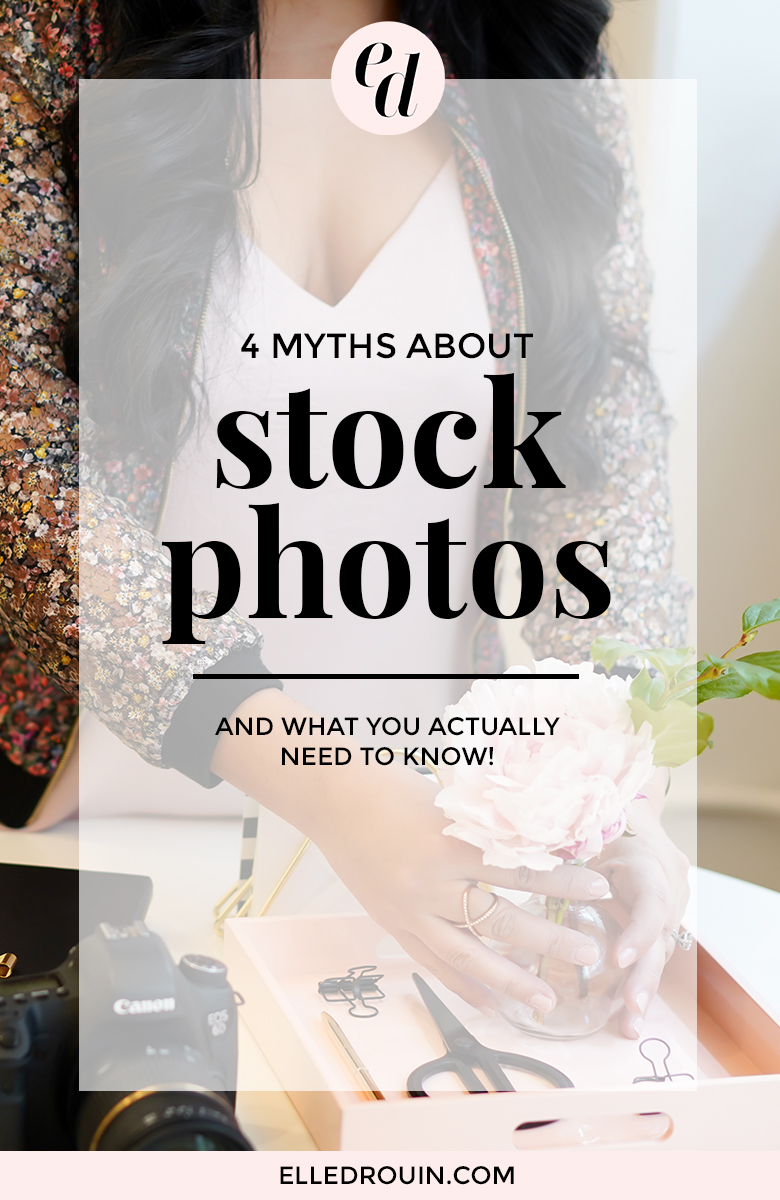 4 myths about stock photos - why styled stock photos can be a great affordable photography resource and what you need to know about using stock photos for your brand.