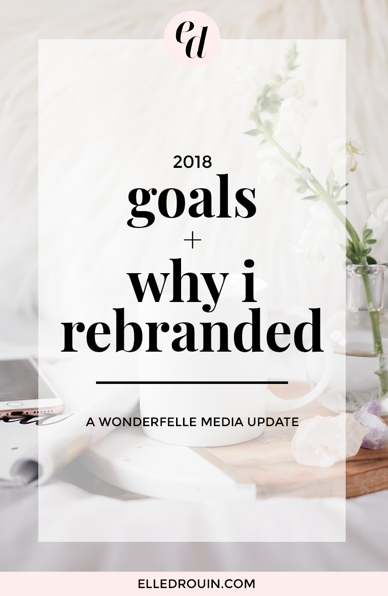 2018 goals + why I rebranded from wonderfelle to my name.
