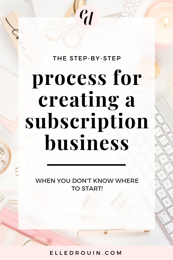 Step by Step Process for Creating A Subscription Business